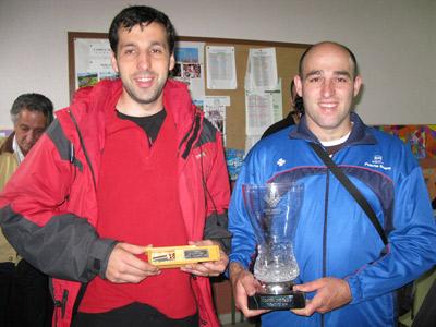 Vicente Riego (3º) y Felipe Rodriguez (1º)