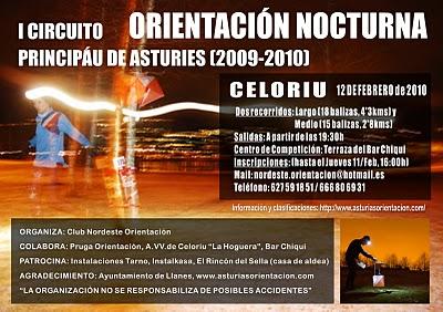 Cartel Orientación Noctura Celoriu