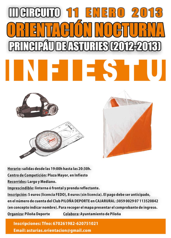 Circuito Mayor : Infiestu 11 01 13 circuito nocturno asturies asturias