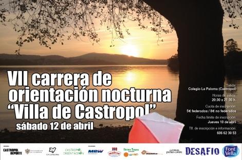 Orientacion Nocturna y Diurna finde en Castropol 12-13 abril Nocturna